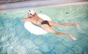 Asian in Pool Pics